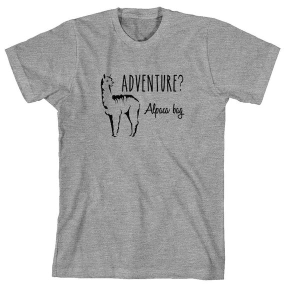 Adventure Alpaca Bag Shirt, funny animal shirt - ID: 1183