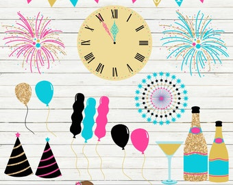 New years clipart – Etsy