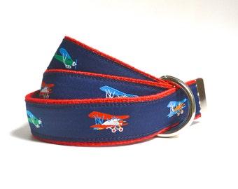 Airplane Belt - Boys Belt - Boys Canvas Belt - Canvas Belt - Airplane Nursery - Baby Airplane - Pilot Gift - Navy Toddler Belt - Child Belt
