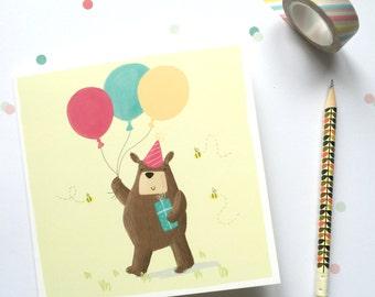 Celebration Bear Greetings Card