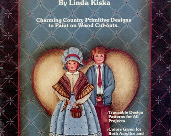 Our Family Portrait: 54 Primitive Doll Designs - Linda Kiska, 1986, painted wood crafts