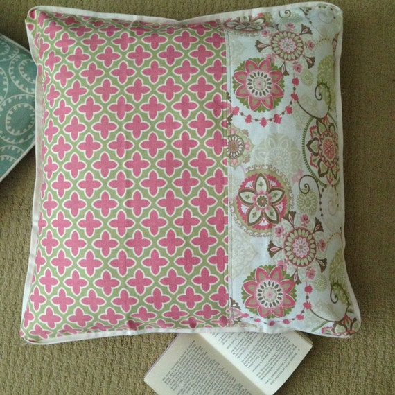 Big Pink Floor Pillows : Large Pink Floor Pillow Cover 24x24 inch by GetCreativeSewing