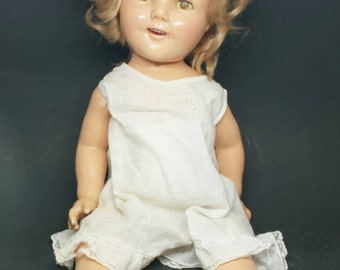 """Antique Shirley Temple Doll by IDEAL 1930s - 20"""""""