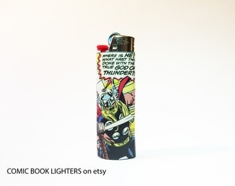 Thor Avengers Comic Book Custom Bic Lighter