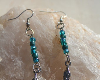 CLEARANCE Feather child earrings