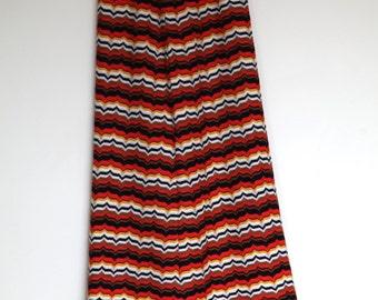 Missoni style vintage maxi skirt M