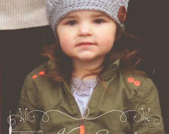 Crochet Slouchy Hat, Girls Slouchy Hat, Women's Slouchy Hat, Boutique Quality Hat, Newborn Photo Prop