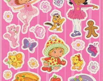 Strawberry Shortcake Stickers TCFC Stickety-Doo-Da Pink Ballerinas 2004 Those Characters from Cleveland American Greetings