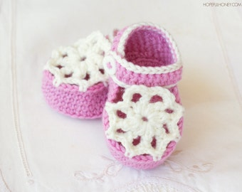 CROCHET PATTERN - Ice Cream Swirl Baby Booties