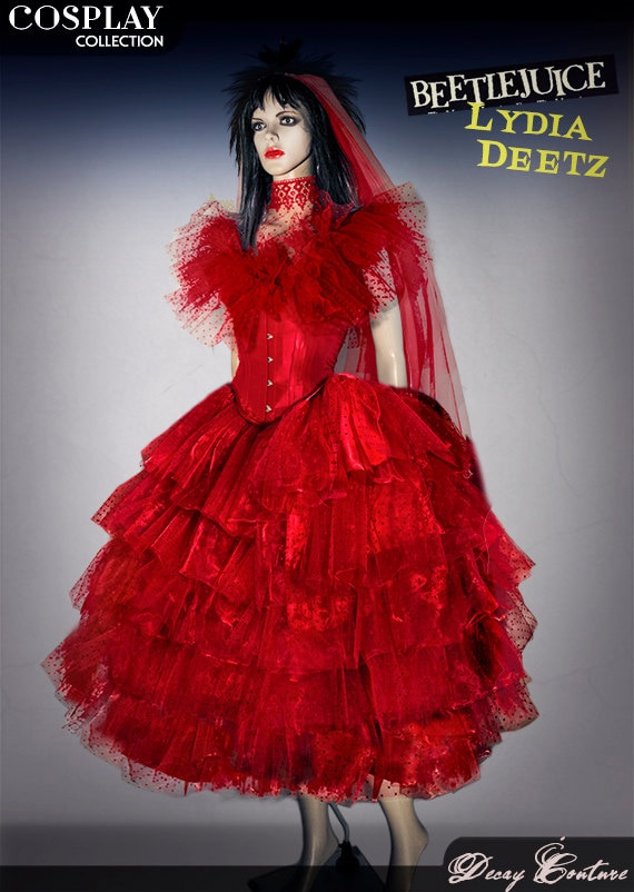 lydia deetz wedding dress cosplay costume made by decaycouture