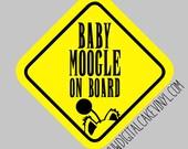 Baby Moogle on board - vinyl window decal - car window decal - Moogles on board - Moogle on board - car decal