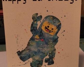 Lego Spaceman birthday card