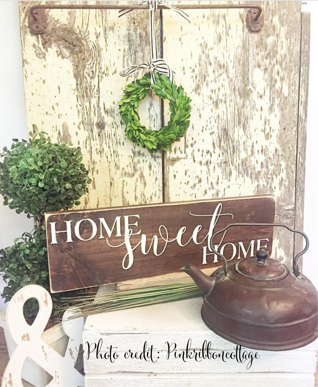 Home Sweet Home Painted Wood Sign Wood Sign Home Decor