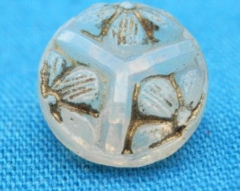 Tiny Opalescent  Antique  Button