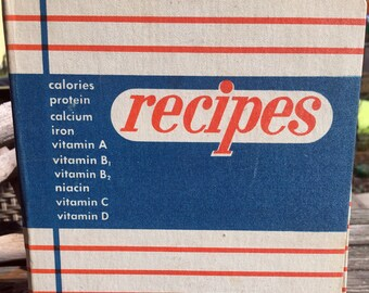 Vintage Recipe Notebook with Blank Pages