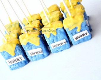 Winnie The Pooh Birthday Winnie The Pooh Baby Shower Winnie The Pooh  Cookies Chocolate Rice Krispie
