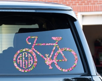 View DecalsVinyl By ChicMonogram On Etsy - Cycling custom vinyl decals for car