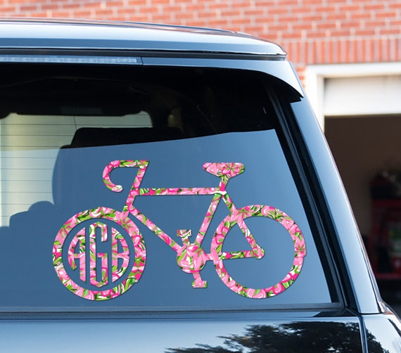 Bike Decal Custom Floral Car Decal Car Stickers Car Decor Cute Car Accessories Lilly Inspired Bicycle Cycling Sports Vinyl Decal For Yeti