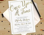 Once upon A Time Bridal Shower Invitation imprimable bricolage no. I274