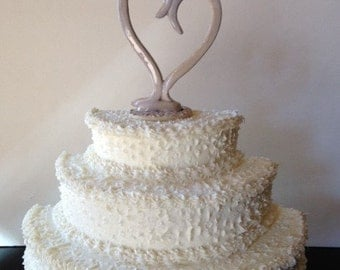 Ceramic Heart Cake Topper