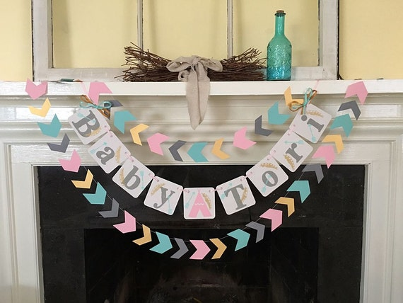 Aztec baby shower decoration tribal baby shower welcome baby for Baby welcome party decoration ideas