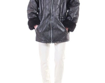 Plaid Wool Coat 90s Ilgwu Hooded Parka Hipster Boho By