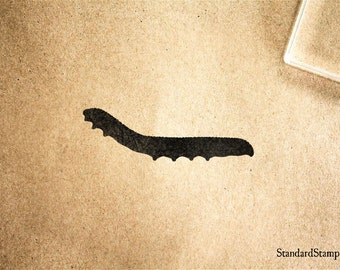 Inchworm Rubber Stamp - 2 x 2 inches