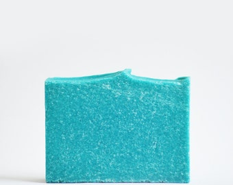 Blue Agave Sea Salt Soap | Vegan Palm Free Soap, Spa Homemade Soap, Cold Process Soap, Salt Bar Soap, Scented Soap, Handmade Soap, Soap Gift