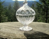 Crystal D'Arques-Durand Longchamp Clear Footed Candy Dish
