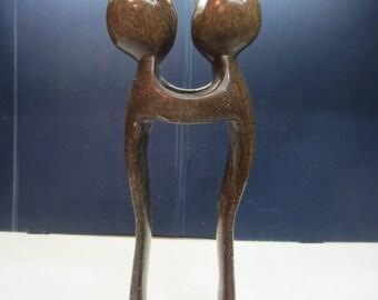 Shona Stone Lovers / Couple Figurine Zimbabwe South Africa