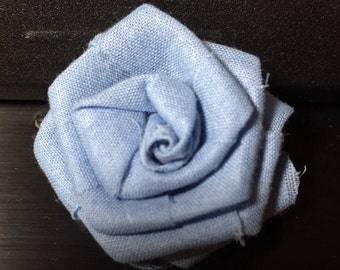 Lapel Flower Light Blue Button Back