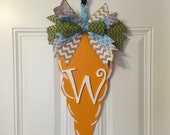 Spring Easter Bunny Carrot with Initial