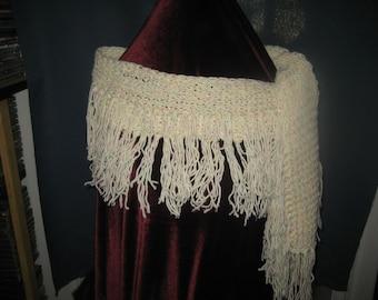Scarf, shawl, Confetti, Wrap around scarf or shawl Hand made
