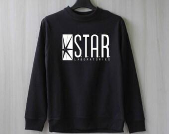 Star Laboratories Shirt Star Labs Sweatshirt Sweater Jumper Pullover Shirt – Size XS S M L XL