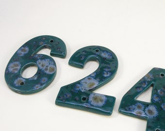 House Tiles Stoneware  House Numbers Ceramic house Address Numbers