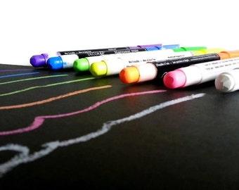 Kit of 7 Color chalk marker, liquid chalk, blackboard marker,chalk pen, scrapbooking pensil
