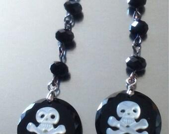 """Lady Pirate"" dangle earrings"