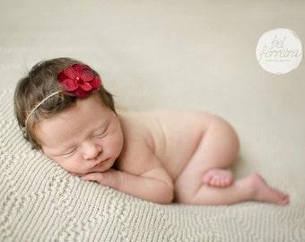 Flower Headband, Red Headband, Red, Flower, Red Flower headband, Baby Headband, Photography Prop, Newborn Headband, Baby Headband