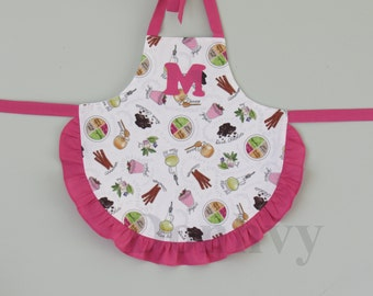 Personalized Food Apron for Toddler. Cute Aprons for Little Girls