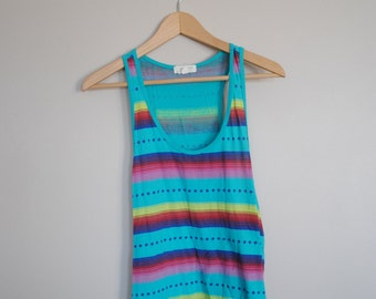 Colorful Racerback Muscle Tank // Women's Size Medium