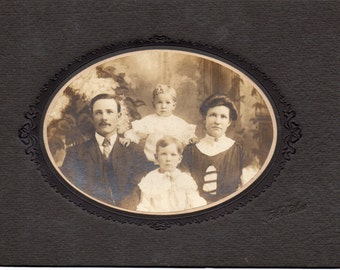 Antique Photo of Cute Family