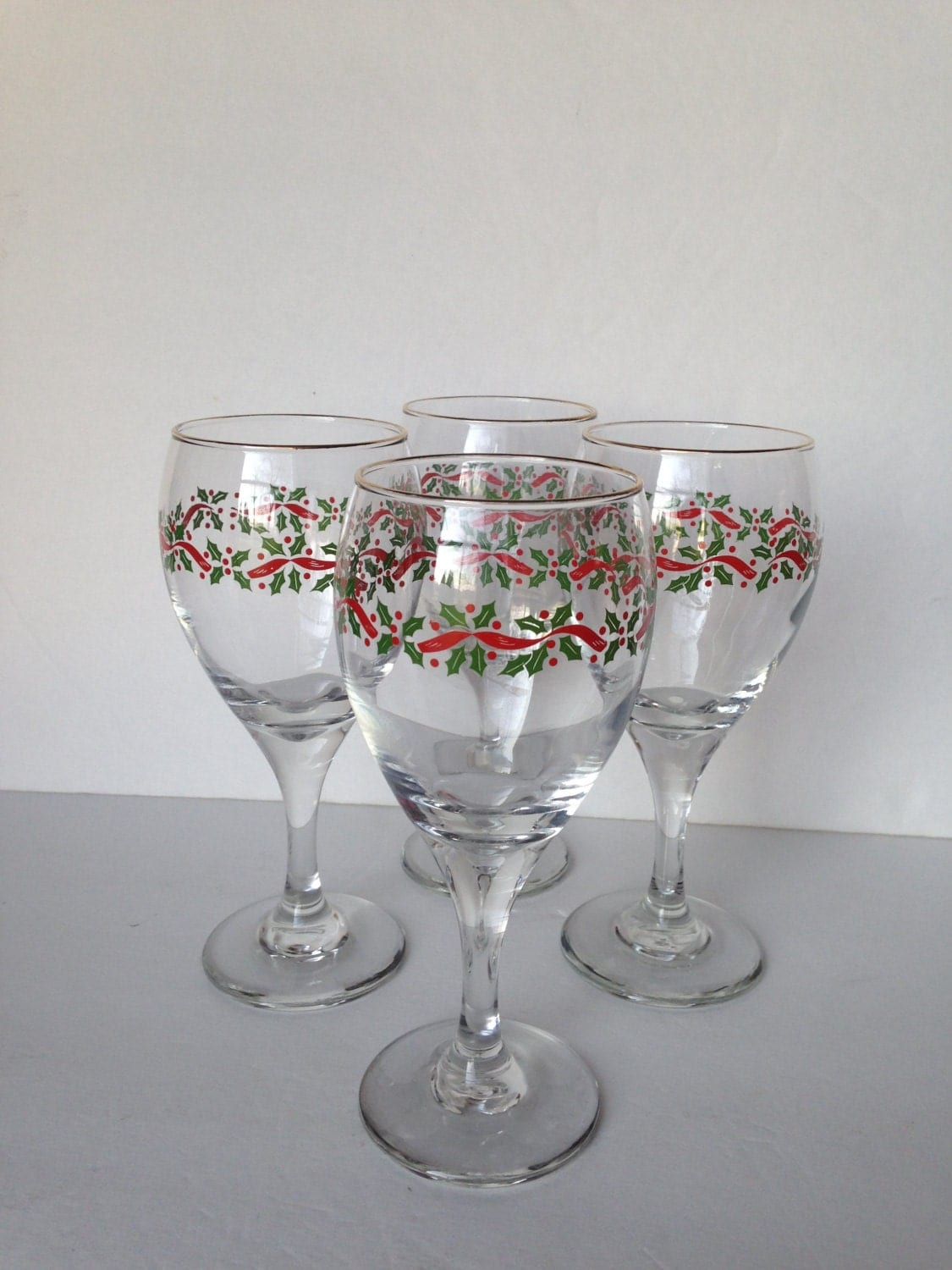 christmas wine glasses christmas water glasses libbey
