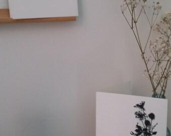 Stillness Blooms Greeting Card Paper Silhouette Print