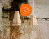 Pendant Lamp Shade in wood | Handmade in Recycled Pallet Wood | Ceiling Light | Industrial Pendant Light by FactoryTwentyOne