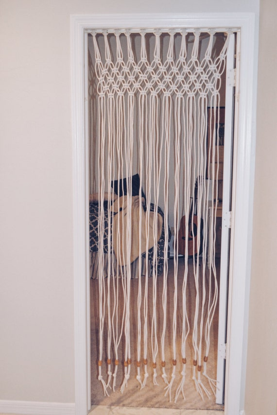 Macrame Door Curtain Boho Decor Teen Gift Teen Bedroom