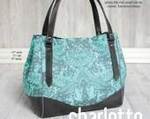 Swoon Patterns: Charlotte City Tote - PDF Vintage Purse Tote Handbag Sewing Pattern