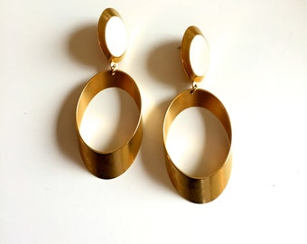 Vintage Modern Hoop Earrings