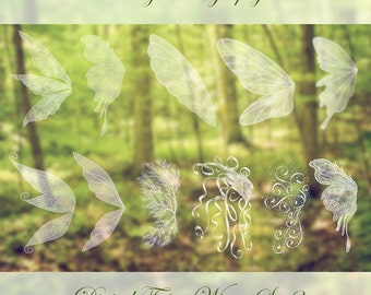 11 Fairy Wings Photoshop OVERLAYS Set 2!