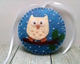 Felt Owl ornaments, Christmas owl decorations, Woodland Christmas ornament, Christmas Owl gift, Owl decor, Felt Christmas ornaments, Xmas