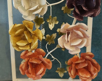 Large Metal Rose Knobs for DIY Projects, Special Accents, Drawers, Cabinets, Doors or Just Fun